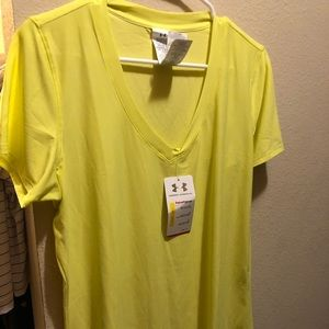 Xl Under Armour top neon yellow